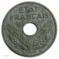20 centimes Légère 1944, Zing - F.153.A2 - ETAT FRANCAIS - SUP.