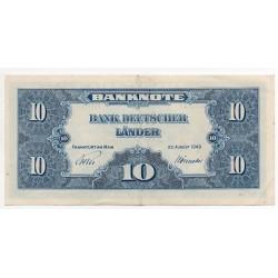 ALLEMAGNE 10 Deutsche mark Série 1949 SUP+ Ros 258
