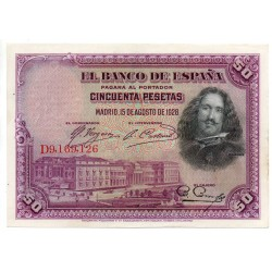 ESPAGNE Lot de 2 Billets 50 Pesetas 15 Aug 1928 Pick 75B