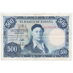 500 Pesetas 22 Jul 1954