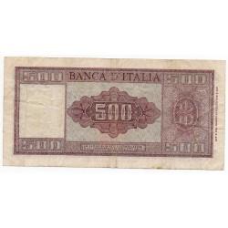 ITALIE 500 LIRE 23 Mar 1961 Crap 58/454