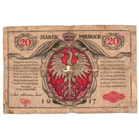 POLOGNE 20 Marek 1917 Ros 454