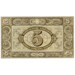 SUISSE 5 Francs 31/08/1946 Pick 11l