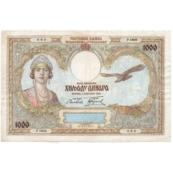 YOUGOSLAVIE 1000 Dinara 1931 Pick 29