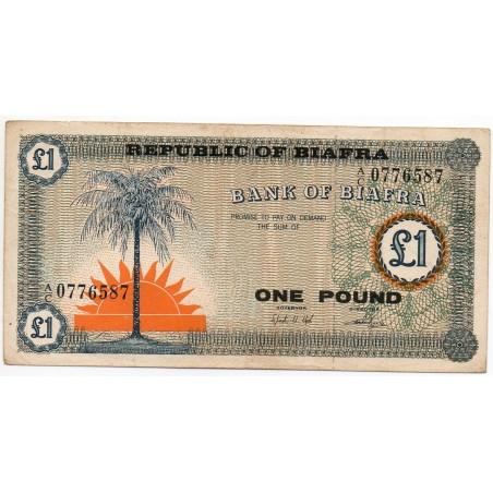 BIAFRA  1 Pound 1967 Pick 2