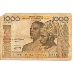 Etats Afrique de l'Ouest / Sénégal 1000 Francs ND Pick 703Km