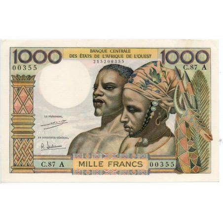 Etats de l'Afrique de l'Ouest / Côte d'Ivoire 1000 Francs ND Pick 103Ah