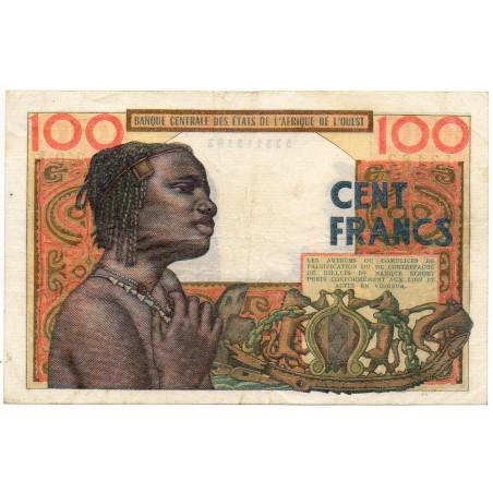 BANQUE CENTRALE ETATS AFRIQUE DE L'OUEST / Sénégal 100 Francs 2 Dec 1964 Pick 701Kc