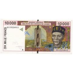 États de l'Afrique de l'ouest 10000 Francs 2000 P 114 Ai