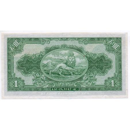 Éthiopie 1 Dollar 1945 Pick 12b