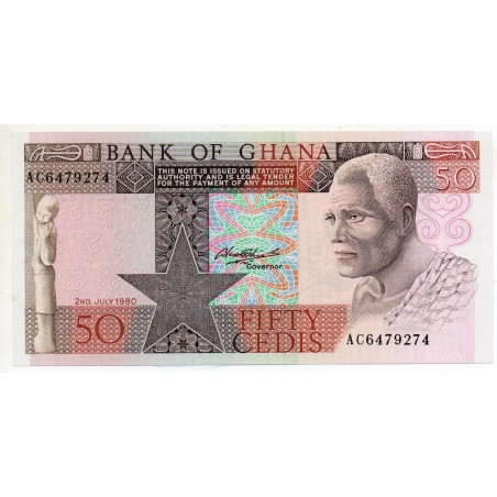 Ghana 50 Cedis 2 Jul 1980 Pick 22b