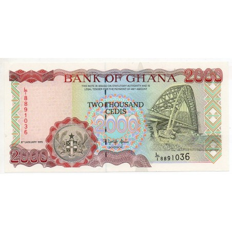 Ghana 2000 Cedis 6 Jan 1995 Pick 30b