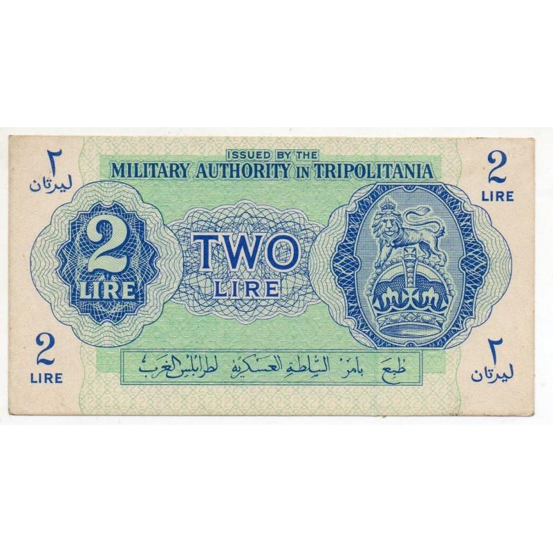 Libye Tripolitania 2 Lire 1943 Pick M2