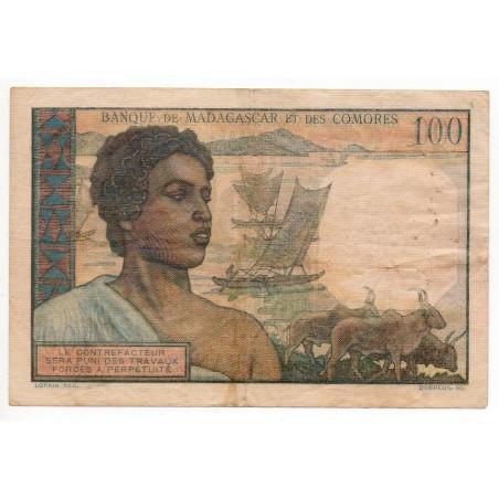 Madagascar Comores 100 Francs ND Pick 46a