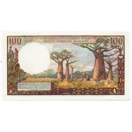 Madagascar 100 Francs 1961 Pick 52