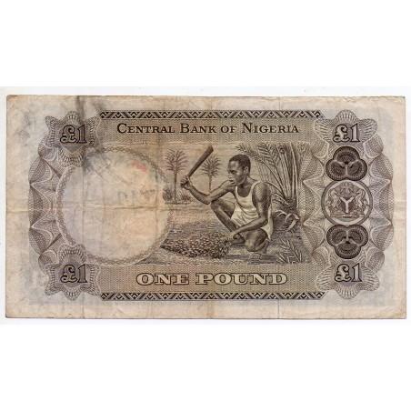 Nigéria 1 Pound 1968 Pick 12b