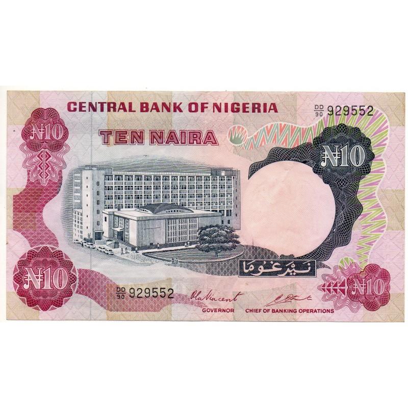 Nigéria 10 Naira 1973-1978 Pick 17b
