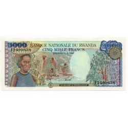 Rwanda 5000 Francs 1 Jan 1988 Pick 22