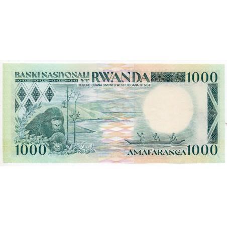 Rwanda 1000 Francs 1 Jan 1988 Pick 21