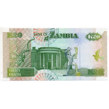 Zambie 20 Kwacha 1992 Pick 36b
