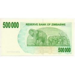 Zimbabwe 500000 Dollars 30 Jun 2008 Pick  51