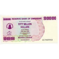 Zimbabwe 50 Million Dollars 30 Jun 2008 Pick 57