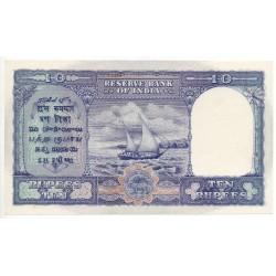Inde 10 Rupees 1943 Pick 24