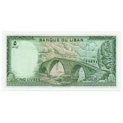 Liban 5 Livres 1986 Pick  62d