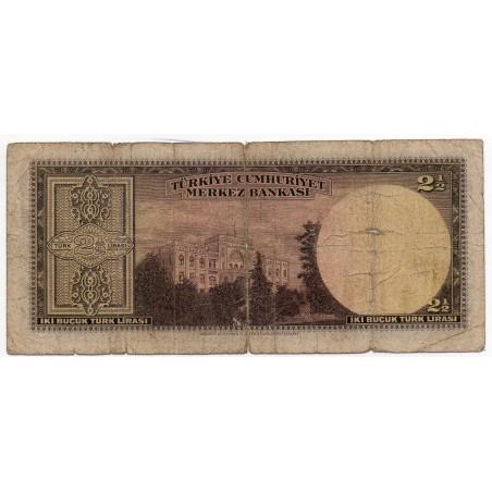 Turquie 2,50 Lirasi 23 mars 1947 Pick 140