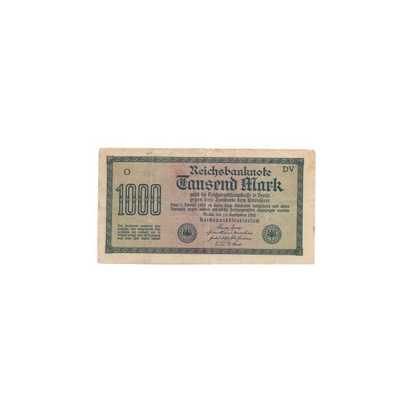 ALLEMAGNE  1000  Mark 15 sept 1922 Ros 75