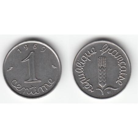 1 CENTIME EPI 1969 (9 queue longue) SUP+  DV1C0027