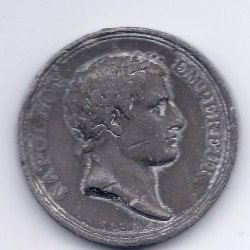 Rare MEDAILLE Napoléon Empereur 1804 Etain