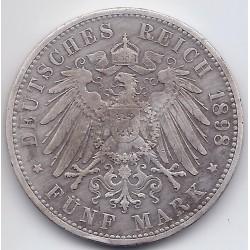 ALLEMAGNE 1898 D GERMAN - BAYERN - 5 MARK