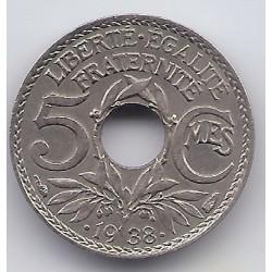 5 CENTIMES Points avant et après la date  1938 Etoile  5C0057