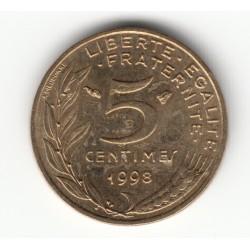 5 CENTIMES MARIANNE 1998 4 Plis SPL/FDC 5C0066