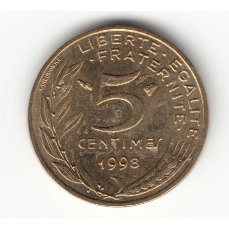 5 CENTIMES MARIANNE 1998 4 Plis  SPL/FDC