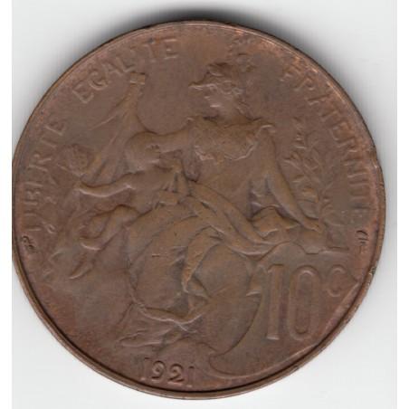 10 CENTIMES DANIEL-DUPUIS  1921   TTB     10C012