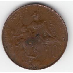 10 CENTIMES DANIEL-DUPUIS 1921 TTB 10C013