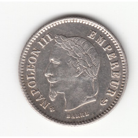 20 CENTIMES NAPOLEON III, TETE LAUREE   1867 BB    TTB+    DV20C016