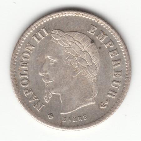 20 CENTIMES NAPOLEON III, TETE LAUREE   1867 BB    SUP   20C018