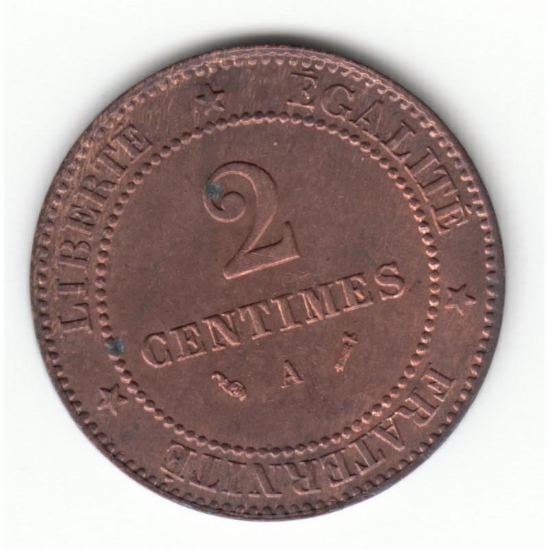 2 CENTIMES CERES 1891 A  TTB
