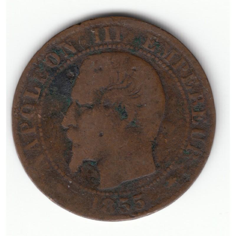 5 CENTIMES NAPOLEON III, TETE NUE  1855 BB Chien  TB  DV5C0022
