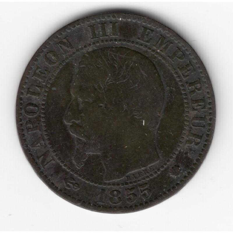 5 CENTIMES NAPOLEON III, TETE NUE  1853 W  TB+   DV5C0024
