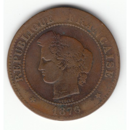 5 CENTIMES CERES 1876 A   TB   5C0035