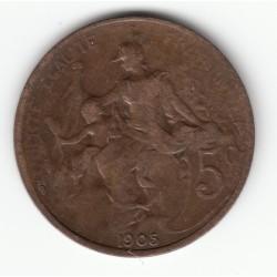 5 CENTIMES DANIEL-DUPUIS 1905 TB+ DV5C0046