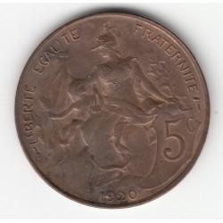 5 CENTIMES DANIEL-DUPUIS 1920 SUP DV5C049A
