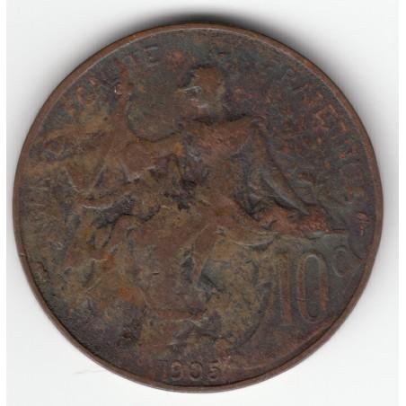 10 CENTIMES DANIEL-DUPUIS  1905  TB  DV10C007