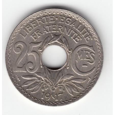 25 CENTIMES LINDAUER  Cmes souligné  1917    SUP     25C019