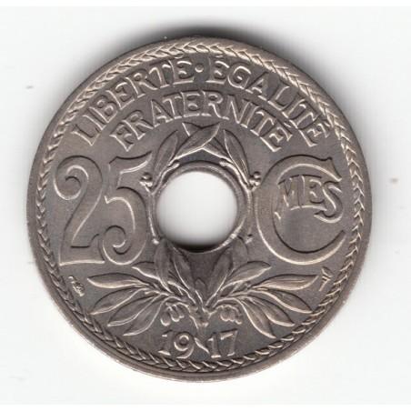25 CENTIMES LINDAUER 1917 - SPL