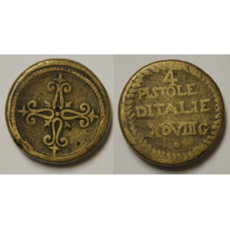 POIDS MONETAIRE 4 PISTOLE D ITALIE XDVIIIG